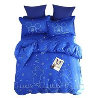 Blue Disney Mickey Mouse bedding set for Kids bedroom decor twin size quilt duvet cover queen comforter cotton bed linens Adult