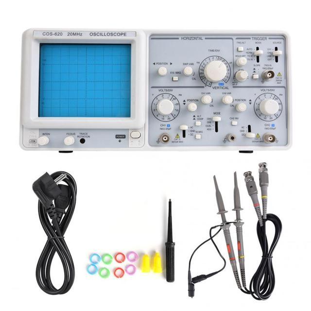 YD4320 20MHz 2 canaux Oscilloscope haute sensibilité double Trace Oscilloscope analogique 220V