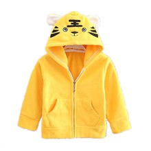 Baby Girl Winter Clothes Plus Velvet Jacket 1-4-Year-Old Boys Winter Kids Fashion Casual Kids Coat(China)
