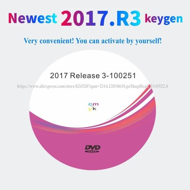 2021 أحدث 2017.R3 R3 برنامج KEYGEN دعم وظيفة ISS ل vd tcs cdp vd ds150e cdp ل delphis obd2 الماسح الضوئي لشاحنة سيارة