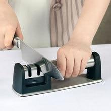 Risamsha afiador de faca profissional sistema afiação cozinha moedor faca aço inoxidável