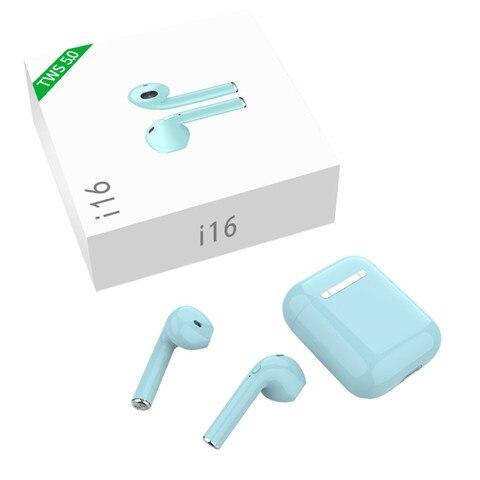 Wireless Earphone i16 TWS 5.0 Wireless Bluetooth 3D Stereo Bluetooth Earbuds HS Ear Mini Bluetooth Headsets Wireless Earbuds Multan