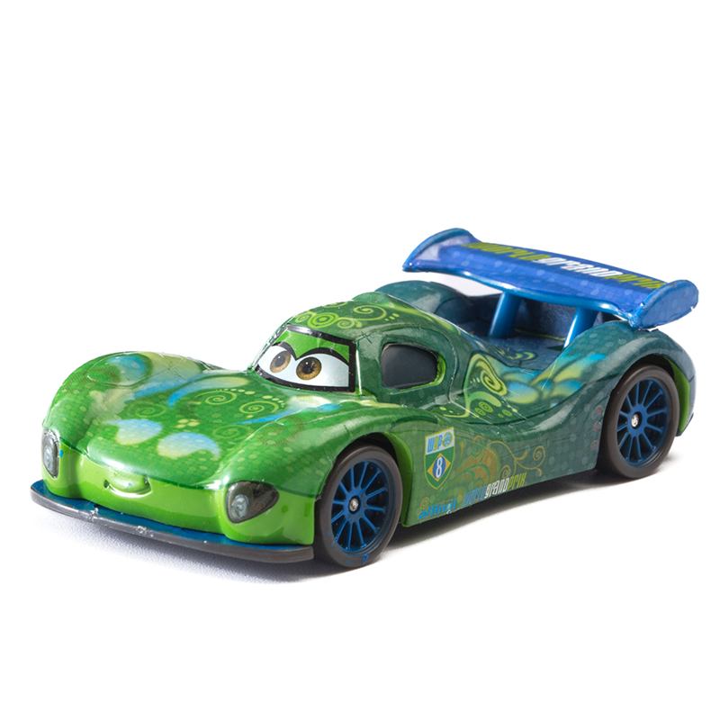 Disney Pixar Cars 2 3  Carla Veloso Lightning McQueen Ramirez Mater 1:55 Diecast Metal Alloy Model Car Kid Birthday Gift Boy