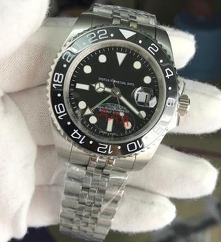 Męskie zegarki automatyczne mechaniczne zegarki GMT 316 stal nierdzewna niebieskie ceramiczne szafirowe szkło AAA 40mm męskie zegarki zegarki tanie i dobre opinie Nicesnowl 5Bar Bransoletka zapięcie Limitowana edycja Automatyczne self-wiatr adjustableinch STAINLESS STEEL Odporny na wstrząsy