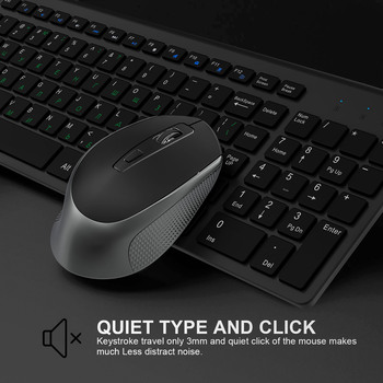 JOYACCESS Russian Wireless Keyboard Mouse Set Ergonomic Mouse PC Mause Silent Button Keyboard and Mouse Combo 2.4G for Laptop PC 5