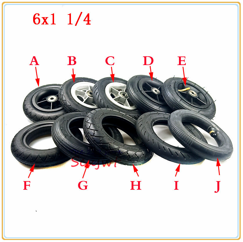 Outer Tire Set Full Wheel 6Inch Electric Scooter Inflatable 6X1 1//4 Inner Tube