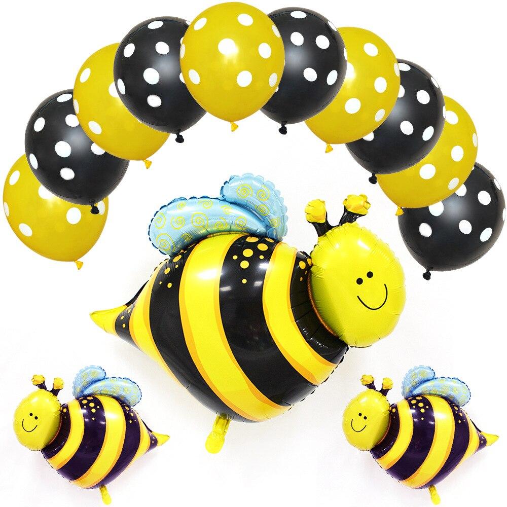 Novo inseto abelha em forma de alumínio balão de filme vendido rapidamente pacote de aniversário dos desenhos animados decoração balão 127