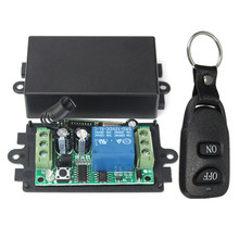 Dc 12V 10A 1Ch Wireless Remote Control Switch System Receiver Transmitter 2 Buttons Waterproof Remote 433Mhz(China)