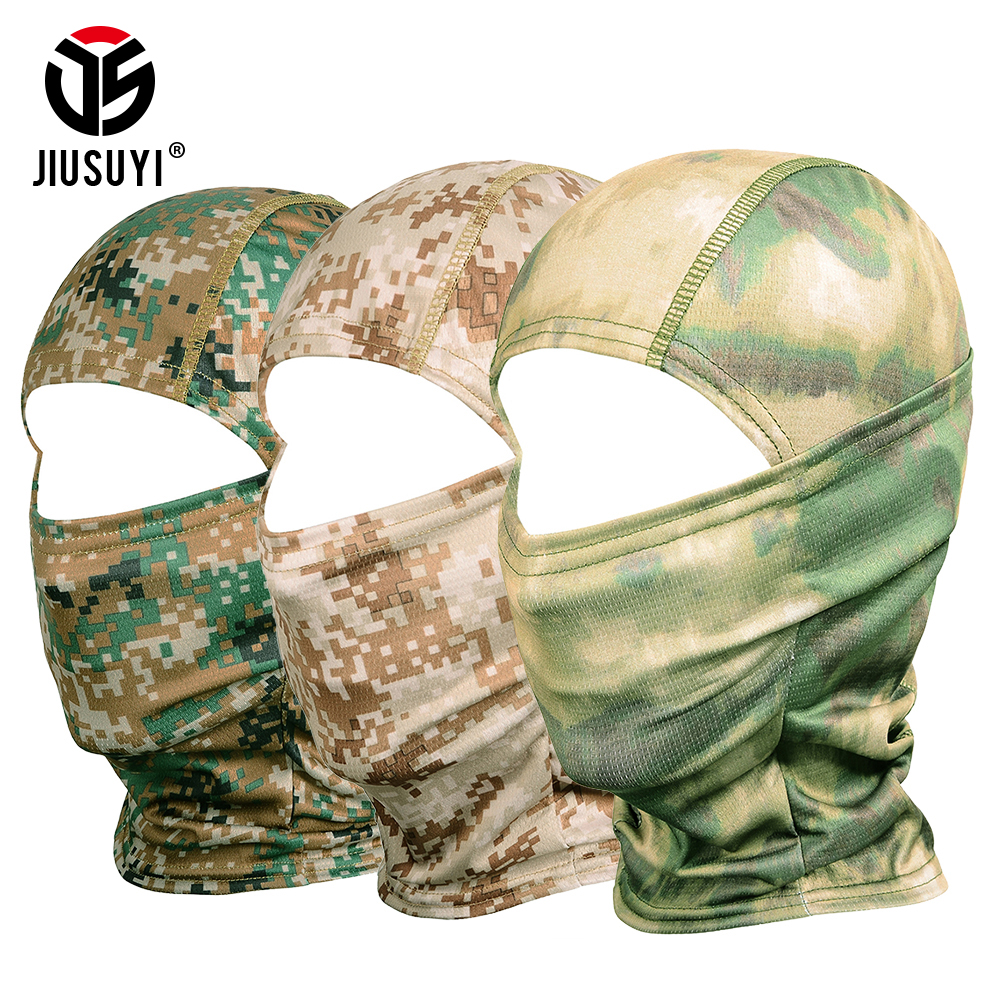 Multicam Camouflage Balaclava Tactical Airsoft Military Paintball Army Bicycle Neck Hat Cover Liner Protection Full Face Mask