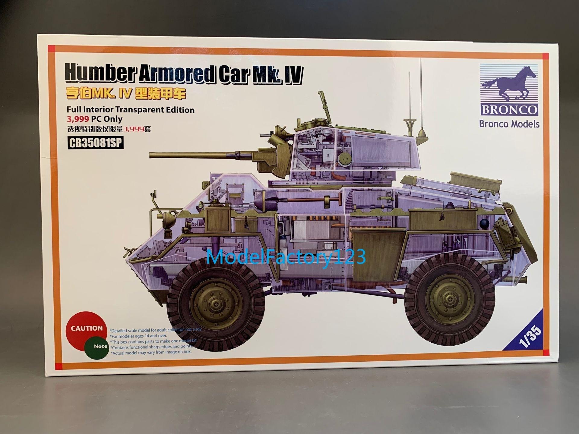 Модель бронированного автомобиля Humber BRONCO CB35081SP 1/35 Mk.IV