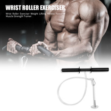 Wrist Roller Exercise Weight Lifting Forearm Strength Training Fitness Equipment Trainers Force Core Training Tool