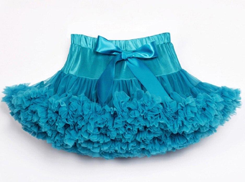 Юбка-американка для девочек; праздничная одежда на Хэллоуин; оранжевые юбки-пачки для маленьких девочек; пышная юбка-пачка для девочек; Одежда для девочек - Цвет: Небесно-голубой