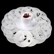 KitchenAce 16 pz/set di Caffè Latte Cappuccino Caffè Art Stencil Barista Cupid Modello Torta Duster Spray Per Il Caffè Decor Tools