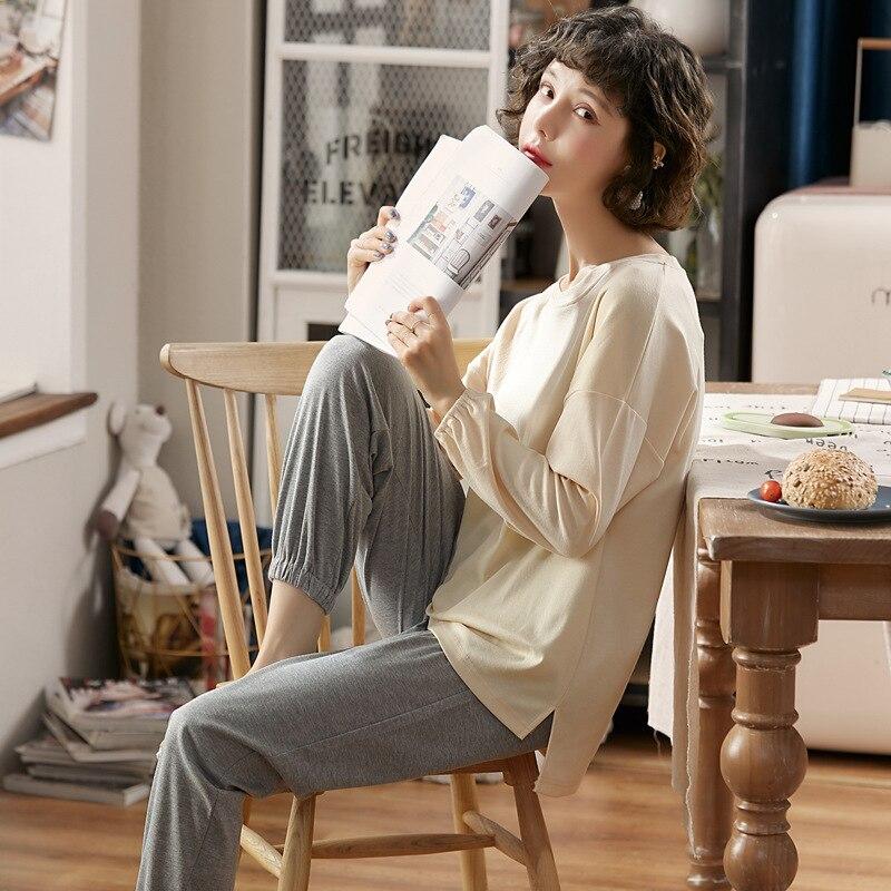 3523 # Autumn Pajamas WOMEN'S Suit Tracksuit Knitted 6535 M -Xxl
