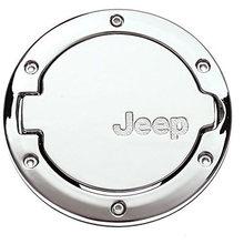 Gas Tank Cap Cover Fuel Filler Cover for 4-Door 2-Door for Jeep Wrangler JK & Unlimited 2007-2017 Sport Rubicon Sahara JEEP
