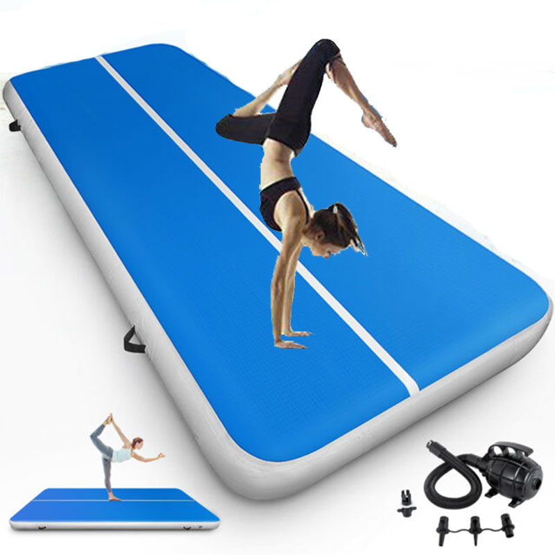 6M Inflatable Air Track Gymnastics Airtrack Gymnastics Mat With Free Pump For Body Building
