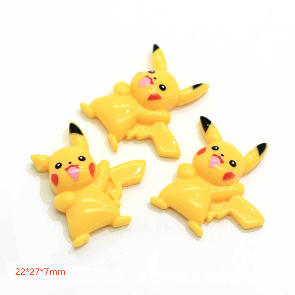 10Pieces Flat Back Resin Cabochon Kawaii Pokemon DIY Flatback Scrapbooking Embellishment Crafts Phone Hair Bow Accessories