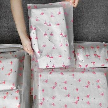 Transparent Cosmetic Bag Flamingo Travel Makeup Case Women Zipper Make Up Bath Organizer Storage Pouch Toiletry Wash Beauty Box travel waterproof cosmetic bag washbag women zipper makeup bags beauty case make up organizer storage bath toiletry wash bag