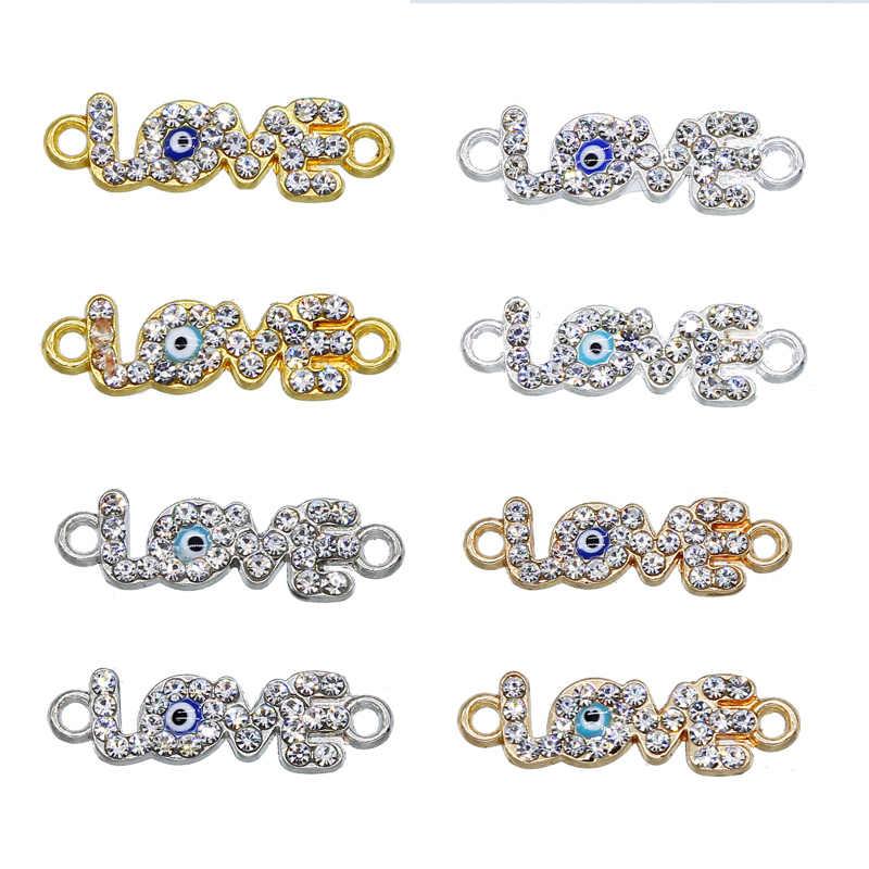 6 Pcs Amore Blu Evil Eye Pendenti E Ciondoli Connettore per Il Braccialetto Accessori Dei Monili di Stile Diverso Ciondolo Fatto a Mano