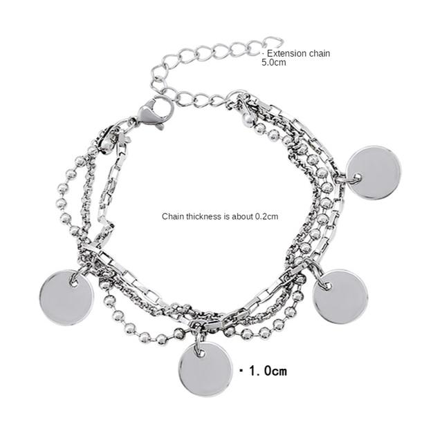 BTS Jimin Multilayer Bracelet Metal  6