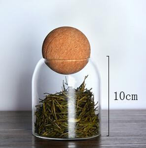 Ball cork lead-free glass jar with lid bottle storage tank sealed tea cans cereals transparent storage jars coffee contains 7