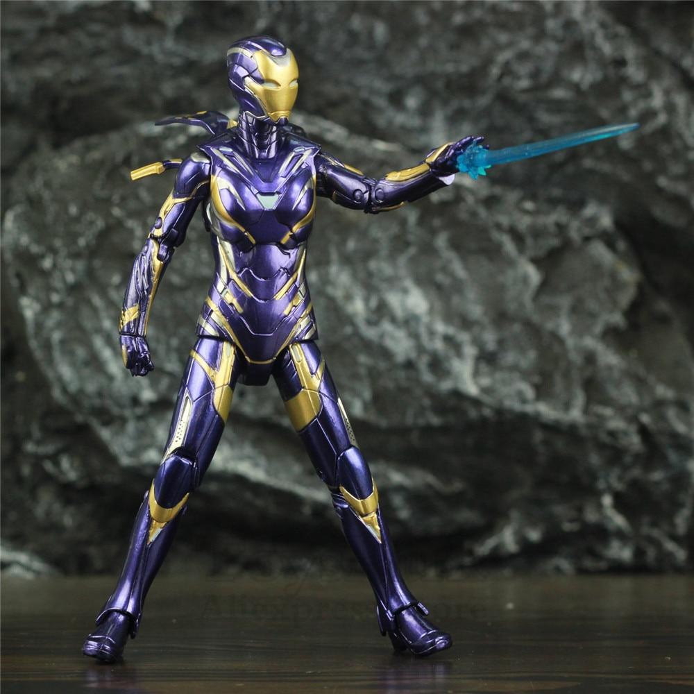 "Image 5 - Marvel 2019 Avengers 4 Endgame Iron Man Rescue Pepper Potts 7"" 17cm Action Figure Ironman Legends Lady Purple Armor ZD Toys DollAction & Toy Figures   -"