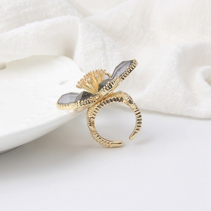 Trendy Fashion Luxury Crystal Flower Rings for Women Exquisite Party Decoration Ring Jewelry