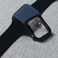 Protector de pantalla de cristal + cubierta para carcasa de reloj Apple, 44mm, 40mm, iWatch 42/38mm, accesorios para Apple Watch serie 5 4 3 2 SE 6