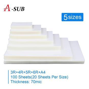 Folia do laminowania termicznego 5 rozmiar (3R #8222 4R #8221 5R #8222 6R #8221 A4 #8222 ) PET + EVA Plastifieuse 20 sztuk na Laminator rolowy plastikowy plastificador tanie i dobre opinie A-SUB CN (pochodzenie) 51-100 arkuszy pakiet Papier fotograficzny Bezpieczne Opakowanie