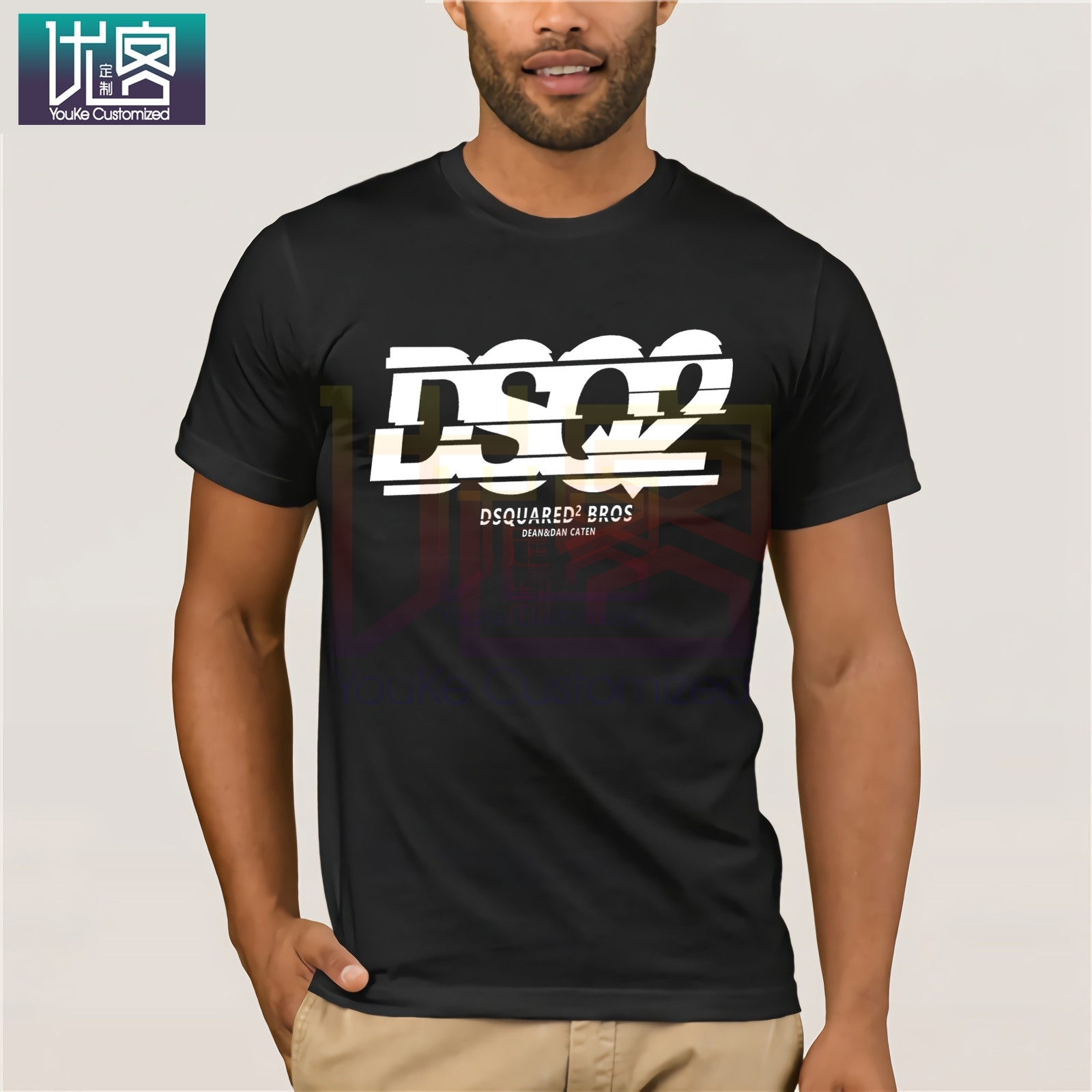 DSQICOND2 New DSQ2 Letter Cotton Short Sleeve T Shirt For Men Summer Short Sleeve Cool T-shirt Funny Tees Cotton Tops T Shirt