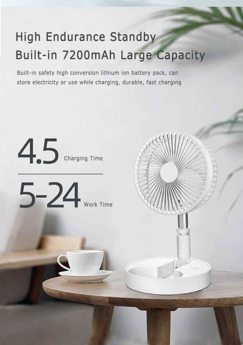 GJF USB Charging Fan Home Office Holiday Camping-Black 5 Speed Adjustable Mini Dormitory Portable Silent Student Dormitory Fan