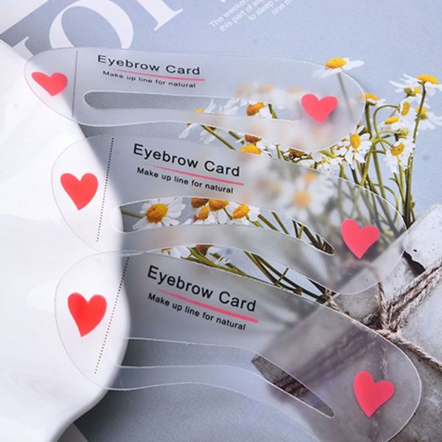 Easy to Use 3Pcs/set Thrush Card Threading Word Eyebrow Makeup Tools Threading Artifact Thrush Card Eyebrows Mold 4