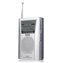 BC R60 Portable Pocket Radio Telescopic Antenna Mini AM/FM 2 Band Radio World Receiver with Speaker