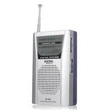BC R60 taşınabilir cep radyo teleskopik anten Mini AM/FM 2 Band radyo dünya alıcısı hoparlör ile