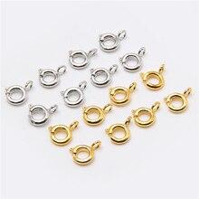 50pcs/lot Metal Gold silver color Lobster Clasps Hooks Bracelet End Connectors Open Jump Rings for Jewelry Making DIY bracelets