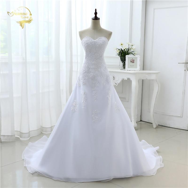 2020 New Arrival Hot Wedding Dresses Elegant Organza Applique Beading Vestidos De Novia Plus Size Beach Bridal Gowns 39001231