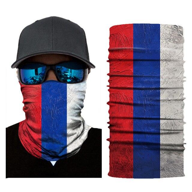 Seamless Balaclava National Flag Bandanas Face Mesh Shield 2