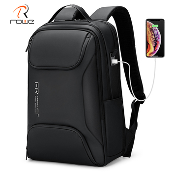 Rowe 15.6 Inch Laptop Backpack Anti-thief Waterproof Male Bag USB Charging Casual Business Travel Backpack For Men High Capacity frn business usb charging bag men 17 inch laptop backpack waterproof high capacity mochila antitheft casual travel backpack bag