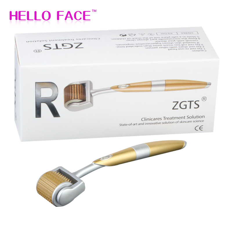 Micro Needle Roller ZGTS 192 Titanium Needles Micro Needle Dermaroller  System For Facial Care Seamles Microneedling Dermaroller