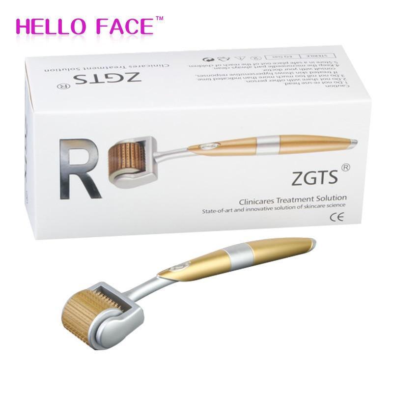 Micro Needle Roller ZGTS 192 Titanium Needles Micro Needle Dermaroller  System For Facial Care Seamles Microneedling Dermaroller