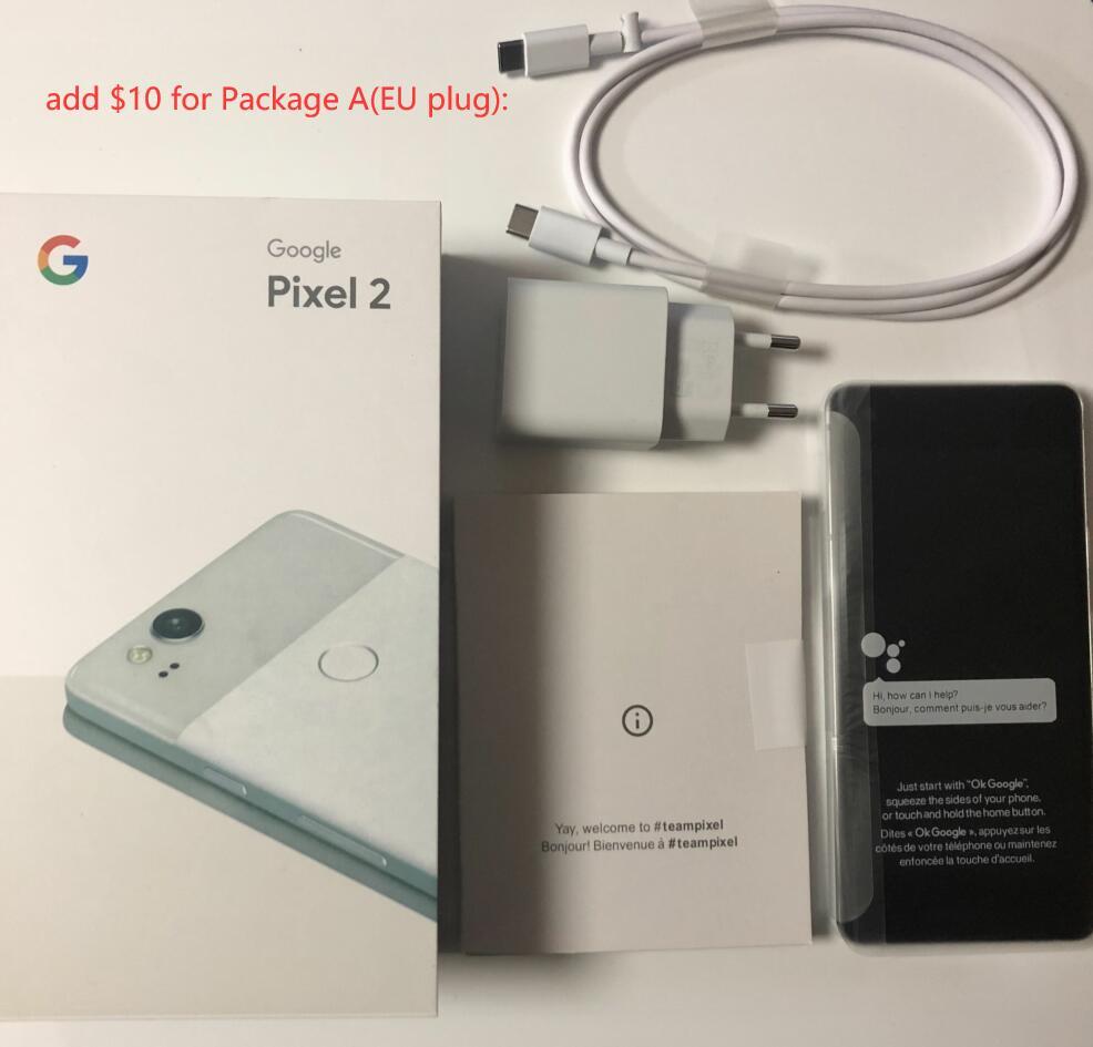 Разблокированный смартфон Google Pixel 2 5,0 ''дюймов, Восьмиядерный, с одной sim-картой, 4G LTE, Android, мобильный телефон, 4 Гб ram, 64 ГБ, 128 ГБ rom, смартфон