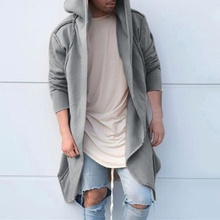 ZOGAA Winter Wool Jacket Mens High-quality Hooded Coat Casual Slim Outwear Male Long Cotton Solid Trench Overcoat