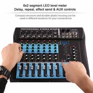 Ct8 8 8 canais profissional estéreo mixer ao vivo usb studio áudio console de som rede âncora dispositivo efeito vocal processador
