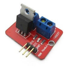 Smart Electronics 0-24V Top Mosfet Button IRF520 MOS Driver Module For Arduino MCU ARM Raspberry pi(China)