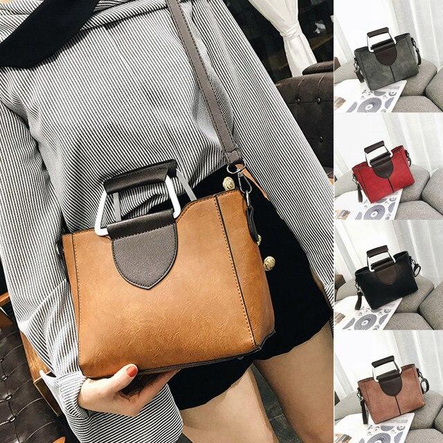 Women's Fashion Solid Color Leather Shoulder Bags With Corssbody Bag Handbag Ladies Outdoor Multifunction Messenger Bag Handbags 1