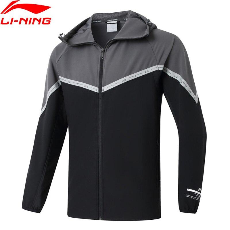 Мужская ветровка для баскетбола Li Ning, Спортивная приталенная куртка из 92% полиэстера, 8% спандекса, AFDQ015 MWF416|Баскетбольные майки|   | АлиЭкспресс