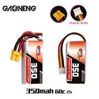 Batería Lipo XT30 o PH2.0 para Drones pequeños, 1-10 Uds., GNB Gaoneng 2S, 350mah, 7,4 V, 60C/120C, enchufe para BETAFPV, Beta75X