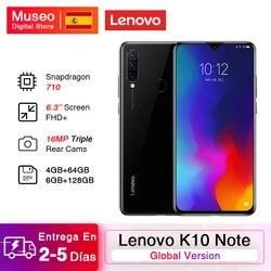 В наличии глобальная версия Lenovo K10 Note(Z6 Lite) смартфон 6 ГБ 128 ГБ Snapdragon 710 6,3 ''FHD + экран с тройной камерой 4050 мАч