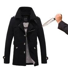 Novo corte-resistente à facada blusão moda discrição flexível corte-resistente jaqueta táticas militares roupas de segurança do fbi
