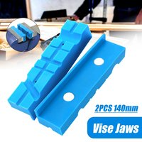 2 pçs bancada magnética vice jaw pad multi-sulco moinho cortador de torno titular apertos banco vise acessórios protetor 140mm